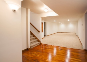 Beautiful finished basement after a Home Renovation in Peoria IL